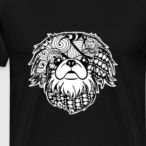 Pekingese Face Graphic Art T-Shirt T-Shirts - Men's Premium T-Shirt