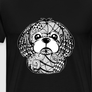Shih Tzu Face Graphic Art T-Shirt T-Shirts - Men's Premium T-Shirt