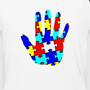 Autism Puzzle Piece Hand - Baseball T-Shirt