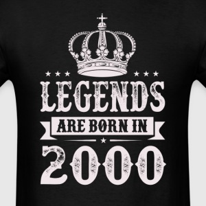 Legends Are Born In 2000 T-Shirts - Men's T-Shirt