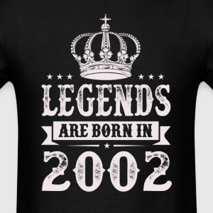 Legends Are Born In 2002 T-Shirts - Men's T-Shirt