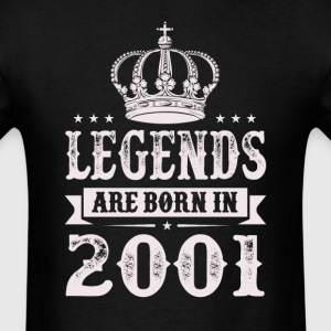 Legends Are Born In 2001 T-Shirts - Men's T-Shirt