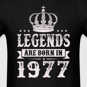 Legends Are Born In 1977 T-Shirts - Men's T-Shirt