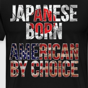 Japanese Born American by Choice National Flag  T-Shirts - Men's Premium T-Shirt