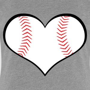 Baseball Heart - Women's Premium T-Shirt