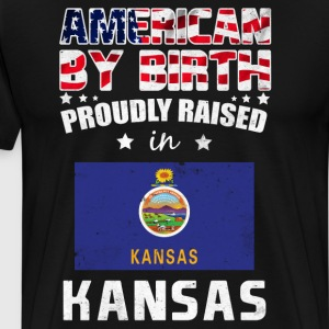 American by Birth Proudly Raised in Kentucky Flag  T-Shirts - Men's Premium T-Shirt