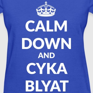 calm down suka blyat T-Shirts - Women's T-Shirt