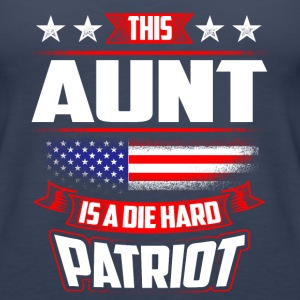 4th Of July Aunt Die Hard  Patriot Shirt Gift Tanks - Women's Premium Tank Top