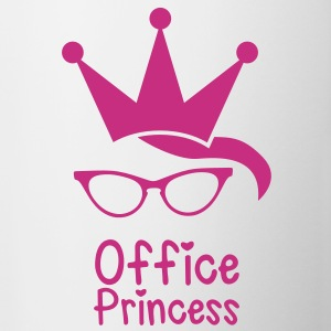 Office princess with cute nerd glasses geek crown Accessories - Coffee/Tea Mug