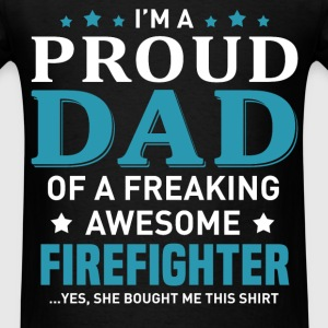 FireFighter's Dad - Men's T-Shirt