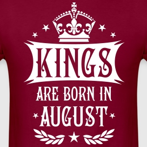 Kings are born in August King Birthday Vintage T-S - Men's T-Shirt