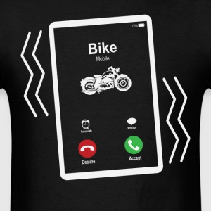 Bike Mobile is Calling Mobile T-Shirts - Men's T-Shirt