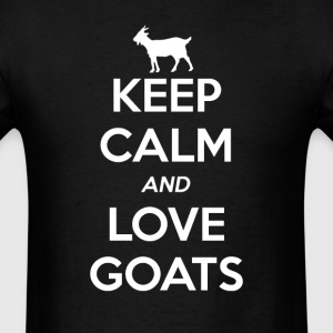 Goat Keep Calm and Love T-Shirts - Men's T-Shirt
