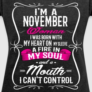 NOVEMBER WOMAN T-Shirts - Women's Roll Cuff T-Shirt