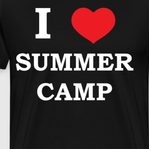 I Love Summer Camp Heart Outdoor Adventure T-Shirt T-Shirts - Men's Premium T-Shirt
