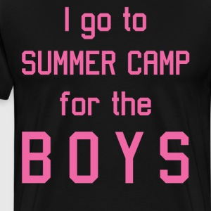 I Go to Summer Camp for the Boys Pink T-Shirt T-Shirts - Men's Premium T-Shirt