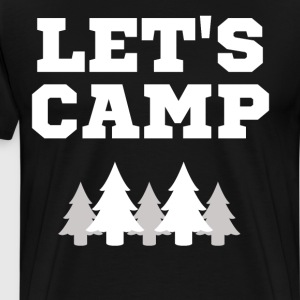 Let's Camp Trees National Park T-Shirt T-Shirts - Men's Premium T-Shirt