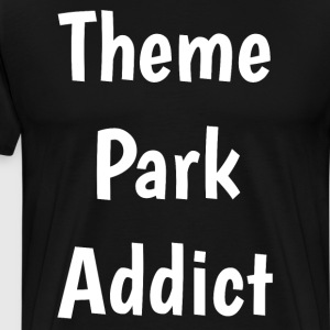 Theme Park Addict Roller Coaster Fan T-Shirt T-Shirts - Men's Premium T-Shirt