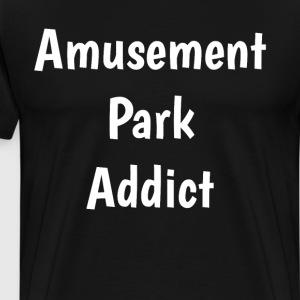 Amusement Park Addict Roller Coaster Fan T-Shirt T-Shirts - Men's Premium T-Shirt