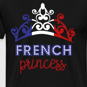 French Princess Tiara National Flag T-Shirt T-Shirts - Men's Premium T-Shirt