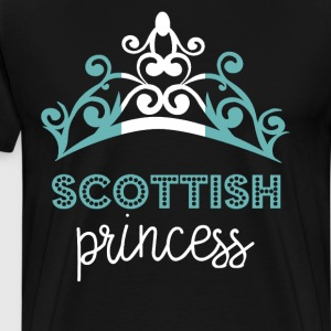 Scottish Princess Tiara National Flag T-Shirt T-Shirts - Men's Premium T-Shirt