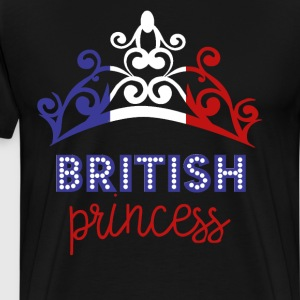 British Princess Tiara National Flag T-Shirt T-Shirts - Men's Premium T-Shirt