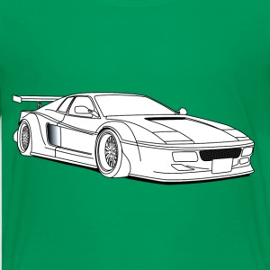 cool car white Kids' Shirts - Kids' Premium T-Shirt