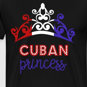 Cuban Princess Tiara National Flag T-Shirt T-Shirts - Men's Premium T-Shirt