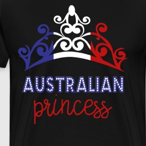 Australian Princess Tiara National Flag T-Shirt T-Shirts - Men's Premium T-Shirt