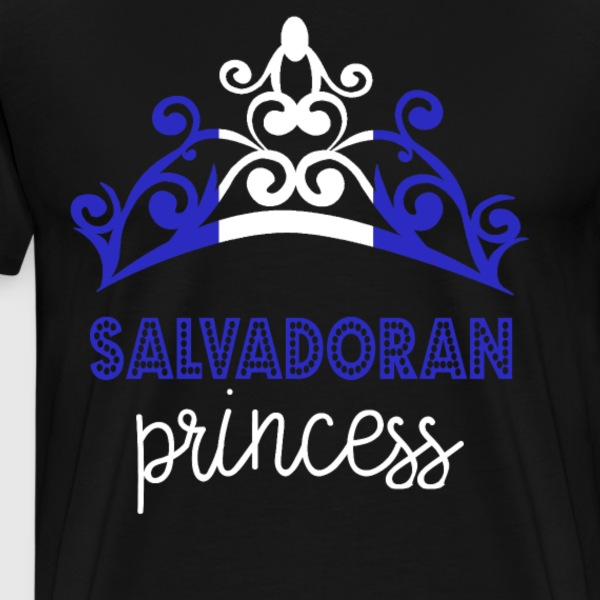 Salvadoran Princess Tiara National Flag T-Shirt T-Shirts - Men's Premium T-Shirt