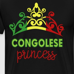 Congolese Princess Tiara National Flag T-Shirt T-Shirts - Men's Premium T-Shirt