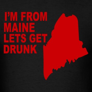 Funny maine state - Men's T-Shirt