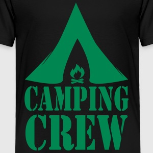 Camping Crew Camper Tent Fire 1c Baby & Toddler Shirts - Toddler Premium T-Shirt
