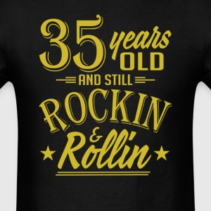 35 Years Old and Still Rockin and Rollin Anniversa T-Shirts - Men's T-Shirt