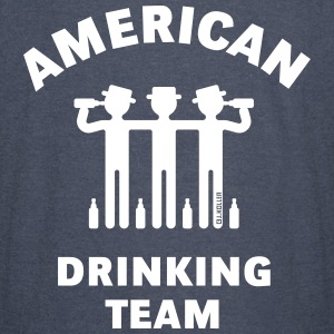 American Drinking Team (Booze / Beer / Alcohol) T-Shirts - Vintage Sport T-Shirt