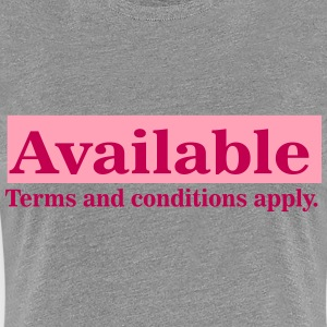Available with terms and conditions - Women's Premium T-Shirt