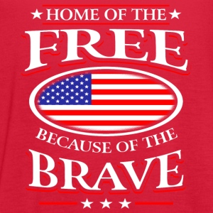 Home Of The Free Because Of The Brave Shirt Tanks - Women's Flowy Tank Top by Bella