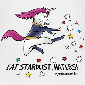 Badass unicorn kicking ass! Eat stardust, haters! Baby & Toddler Shirts - Toddler Premium T-Shirt
