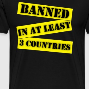 Banned In At Least 3  - Men's Premium T-Shirt