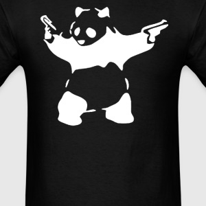 BANKSY KUNG FU PANDA GUNS - Men's T-Shirt