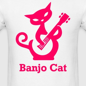 Banjo Cat - Men's T-Shirt