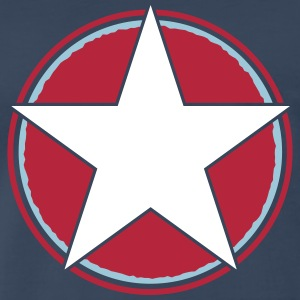 star triple circ_vec_3 us T-Shirts - Men's Premium T-Shirt
