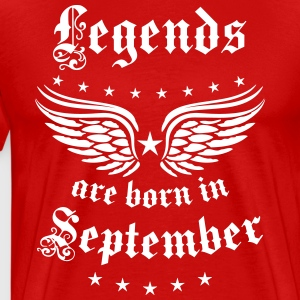 Legends are born in September birthday Vintage Sta - Men's Premium T-Shirt