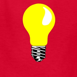 yellow light bulb - Kids' T-Shirt