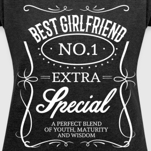 BEST GIRLFRIEND T-Shirts - Women´s Roll Cuff T-Shirt
