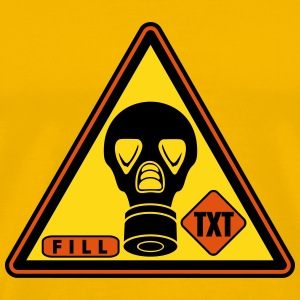 warning gas sticker_vec 3 us T-Shirts - Men's Premium T-Shirt