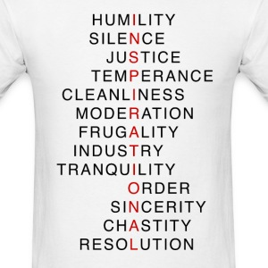 Benjamin Franklin's Virtues 3 - Men's T-Shirt