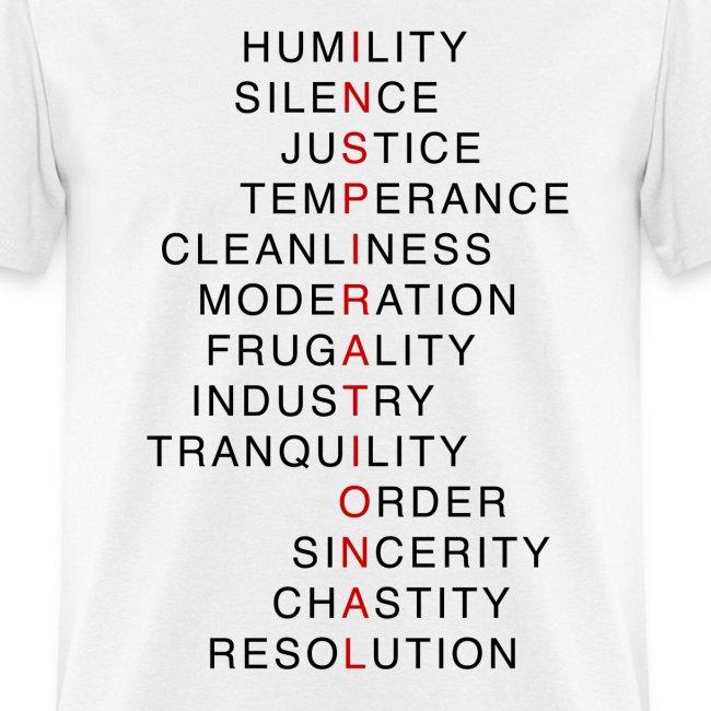 Benjamin Franklin's Virtues 3