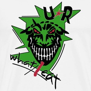 u r what i eat _vec_3 us T-Shirts - Men's Premium T-Shirt