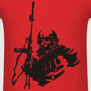 Skeleton Soldier   - Men's T-Shirt